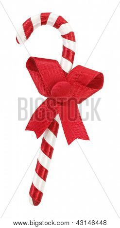 Christmas decoration red white striped cane
