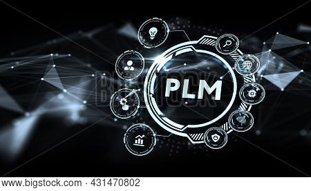 Plm Product Lifecycle Management System Technology Concept. Technology, Internet And Network Concept