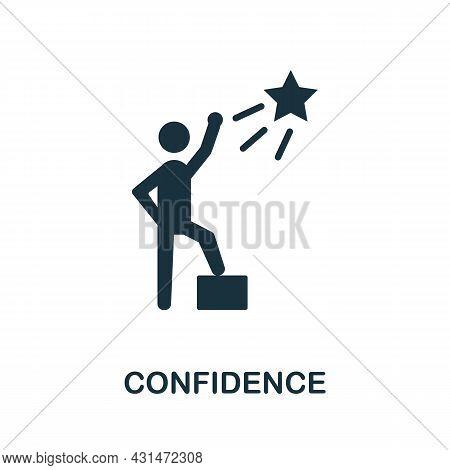 Confidence Flat Icon. Colored Sign From Positive Attitude Collection. Creative Confidence Icon Illus