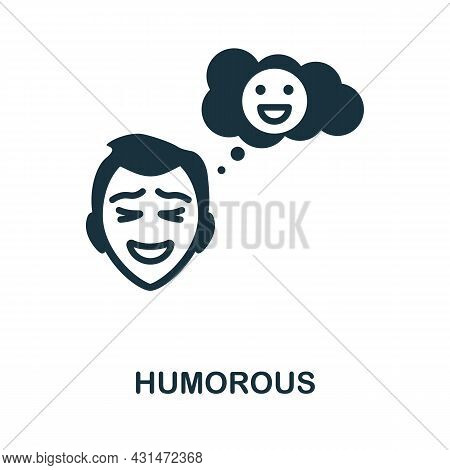 Humorous Flat Icon. Colored Sign From Positive Attitude Collection. Creative Humorous Icon Illustrat
