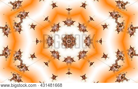 Peach And Beige Abstract Sunrise Burst Of Rays. Perspective With Concentration Lines. Groovy, Psyche