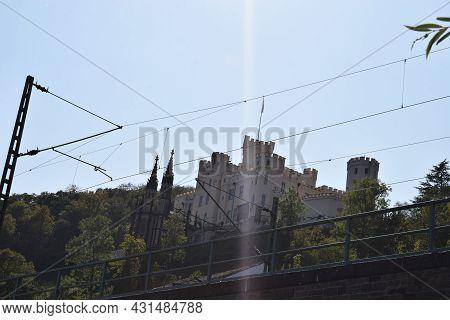 Stolzenfels, Germany - Sptember 21st 2020: Schloss Stolzenfels In Mittelrheintal Near Koblenz