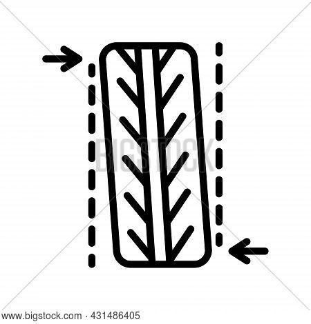 Tire, Tyre And Wheel Flat Line Icons. Automobile Wheel Balancing Service. Simple Flat Vector Illustr