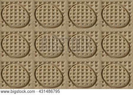 Kinetic Sand Texture For Children's Play And Sculpting With Geometric Imprints. Abstract Background