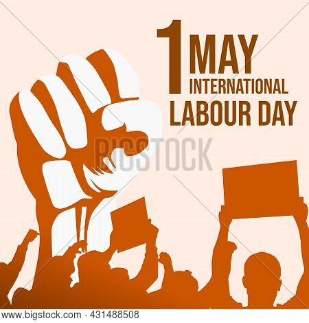 1 May Happy Labour Day. International Labour Day Event Illustration