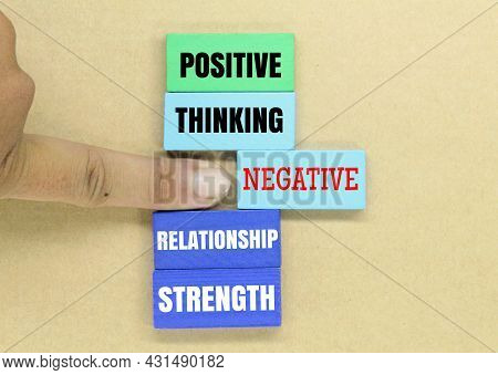 Colored Boards With The Words Positive Self -confidence And One Negative