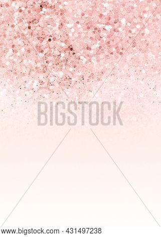 Pink ombre glitter textured background