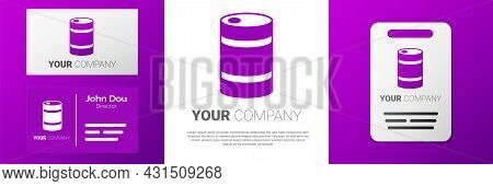 Logotype Metal Beer Keg Icon Isolated On White Background. Logo Design Template Element. Vector
