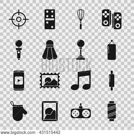 Set Sewing Thread On Spool, Rolling Pin, Punching Bag, Kitchen Whisk, Badminton Shuttlecock, Joystic