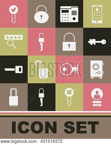 Set Create Account Screen, Safe, Old Key, House Intercom System, Unlocked, Password Protection, Key