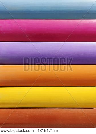 Fashionable Color Painted Creative Handmade Wooden Background.