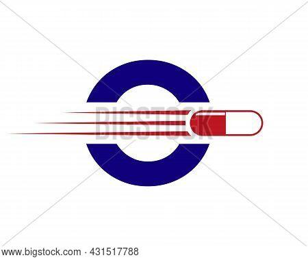 Medicine Logo With O Letter. O  Medicine Pill Or Tablet Logo Concept. Capsule Pharmacy Medical Logo