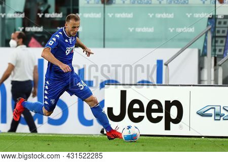 Torino, Italy. 28 August 2021. Ardian Ismajli Of Empoli Fc  Controls The Ball During The Serie A Mat