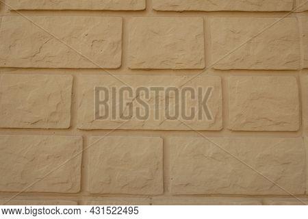 Background - Yellow Brick Veneer Wall (front View)