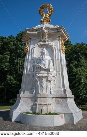 Berlin, Germany - August 11 , 2021 - View Of The Beethoven-haydn-mozart Memorial In Berlin In The Pa