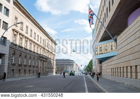 Berlin, Germany - August 11 , 2021 - View Of The Uk Embassy In Berlin.