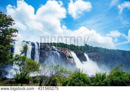 World Famous Athirapally Waterfalls, The Most Beautiful Waterfalls In The World Kerala India, Beauti