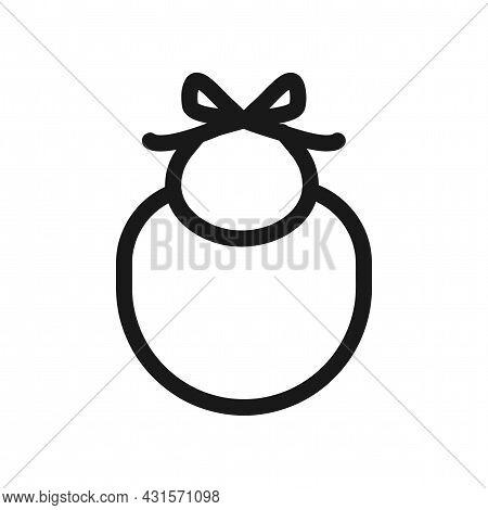 Baby Apron Bib Icon. Baby Apron Bib Line Vector Icon.