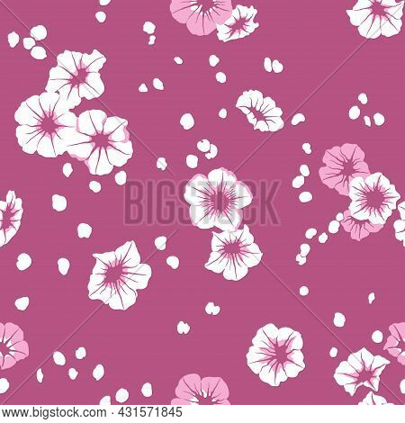 Vintage Floral Pattern. Seamless Cute Texture For Design And Fashion Prints. Flowers Textile With Sm