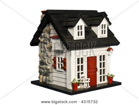 Birdhouse With White Background