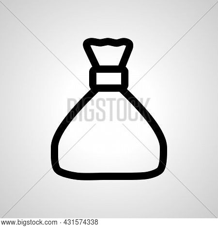 Money Pouch Bag Line Icon. Money Pouch Isolated Simple Vector Icon