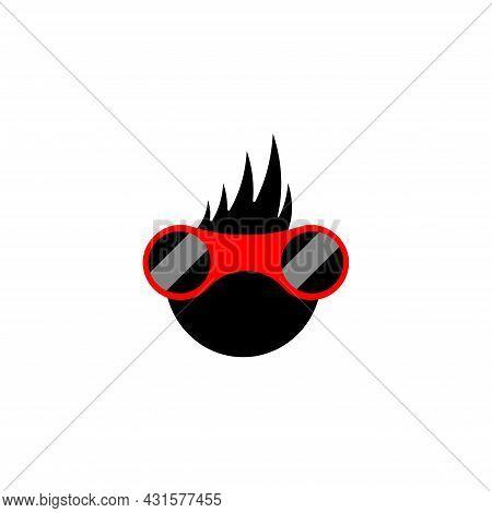 Gamer Glasses Icon Logo Template Internet Computer Vector Design