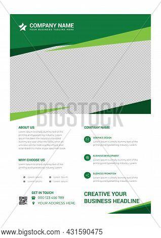 Green Creative Modern Business Poster Design Template
