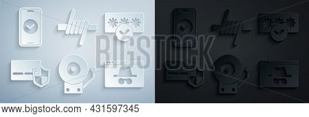 Set Ringing Alarm Bell, Password Protection, Credit Card With Shield, Browser Incognito Window, Barb
