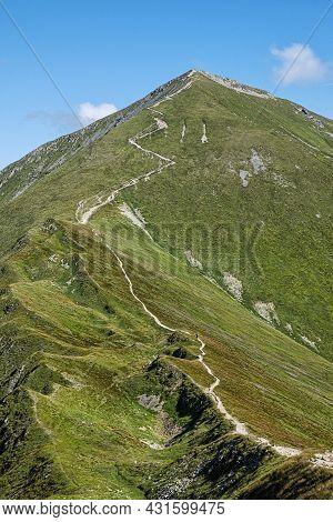 Klin Peak, Western Tatras Mountains, Slovak Republic. Hiking Theme.