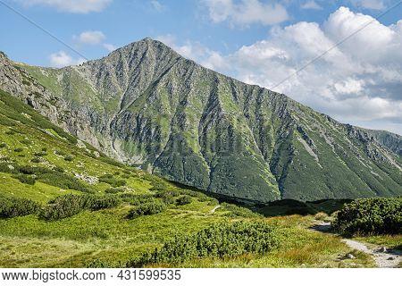 Bystra Peak, Western Tatras Mountains, Slovak Republic. Hiking Theme.