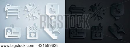 Set Press The Sos Button, Disabled Wheelchair, Identification Badge, Elevator, Joint Pain, Knee Pain