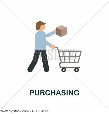 Purchasing Flat Icon. Simple Sign From Procurement Process Collection. Creative Purchasing Icon Illu