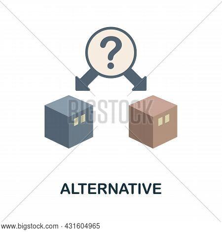 Alternative Flat Icon. Simple Sign From Procurement Process Collection. Creative Alternative Icon Il