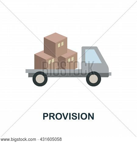 Provision Flat Icon. Simple Sign From Procurement Process Collection. Creative Provision Icon Illust