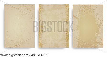Old Paper.ancient Parchment, Manuscript.grunge Background.vector Illustration. Papyrus.