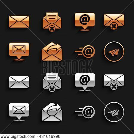 Set Outgoing Mail, Delete Envelope, Paper Plane, Mail And E-mail, Speech Bubble With, On Speech, Env