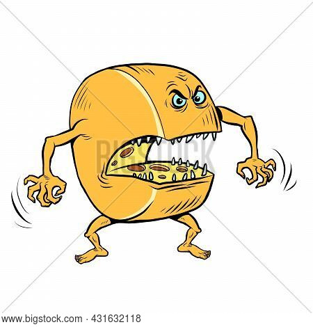 Funny Angry Character Cheese Head Natural Dairy Farm Product