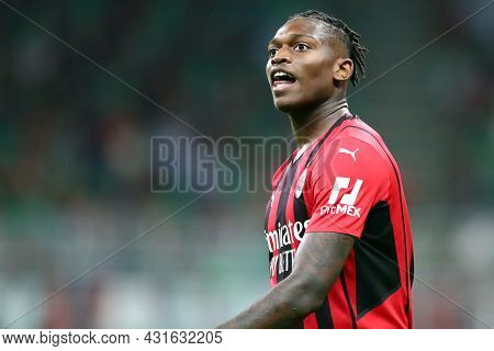 Milano, Italy.  29 August 2021. Rafael Leao Of Ac Milan  During The Serie A Match Between Ac Milan A