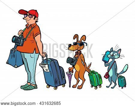 Pet Friendly Transport Airports Cruises Or Trains. Travel And Tourism