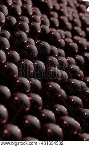 Dark Detail Of Textured Surface.abstract Organic And Natural Background.3d Illustration