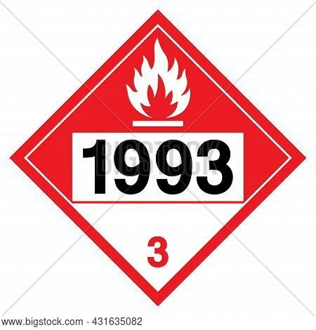 Combustible Liquid Nos Un1993 Symbol Sign, Vector Illustration, Isolate On White Background Label. E