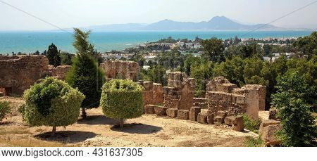 Ruins Of The Ancient Antique City Of Carthage In Tunisia
