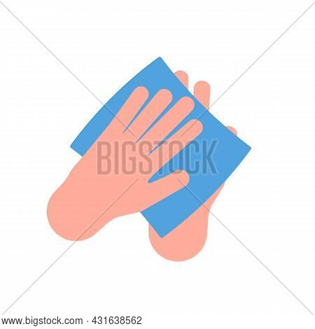 Clean, Wash Hand Of Wipe. Damp Cloth For Desinfection. Paper Tissue, Napkin, Towel For Arms. Wash Ha
