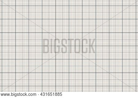 Millimeter Graph Paper Grid. Abstract Squared Background. Geometric Pattern For School, Technical En