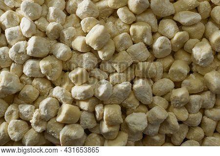 Top View Cut Dough To Prepare Gnocchi Background Wallpaper