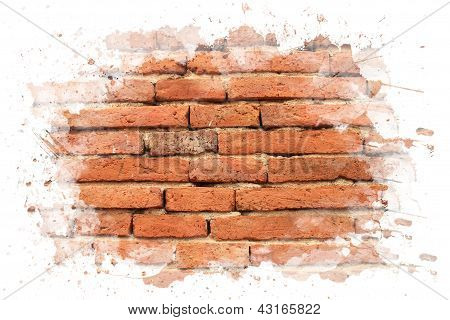 Brick Wall With Watar White Paint.