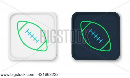 Line American Football Ball Icon Isolated On White Background. Rugby Ball Icon. Team Sport Game Symb