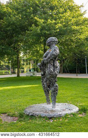 Amsterdam, Netherlands - August 14, 2021: Mama Baranka Anti-racism Bronze Statue In Vondelpark By Ne