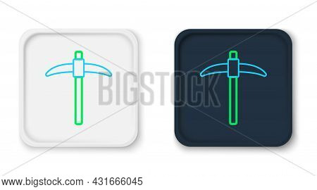 Line Pickaxe Icon Isolated On White Background. Colorful Outline Concept. Vector