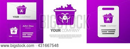 Logotype Infectious Waste Icon Isolated On White Background. Tank For Collecting Radioactive Waste.